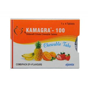 Kamagra Chewable - ostaa Sildenafiilisitraatti verkkokaupassa | Hinta
