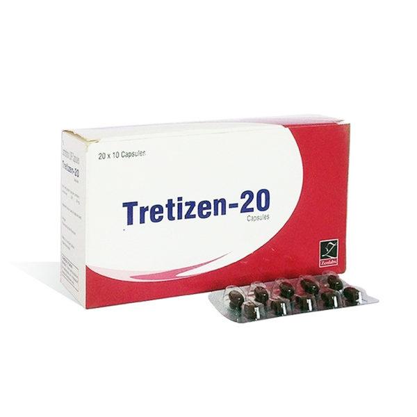 Tretizen 20 - ostaa Isotretinoiini (Accutane) verkkokaupassa | Hinta