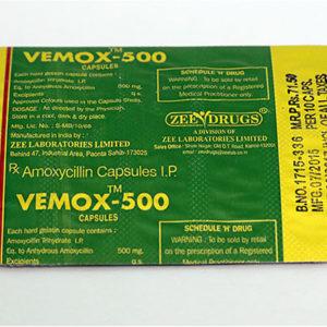 Vemox 500 - ostaa amoksisilliini verkkokaupassa | Hinta